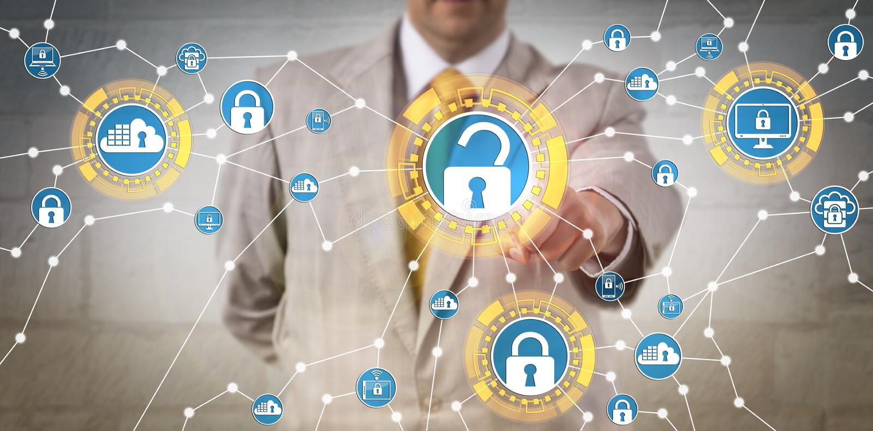 Regolamenti corporativi di Meeting Data Security del responsabile immagine stock