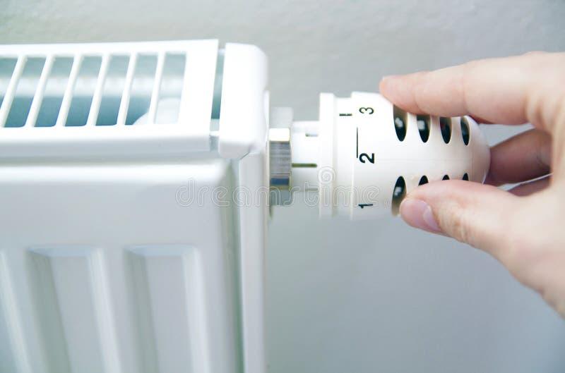 Regolamento del termostato fotografie stock libere da diritti