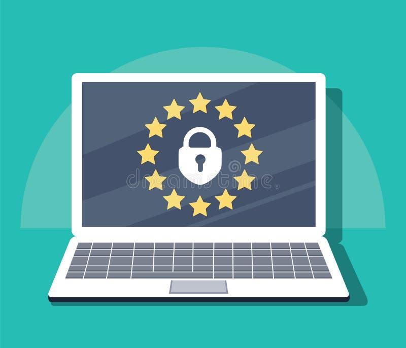 Regolamento generale di protezione dei dati - GDPR Illustrazione di vettore royalty illustrazione gratis