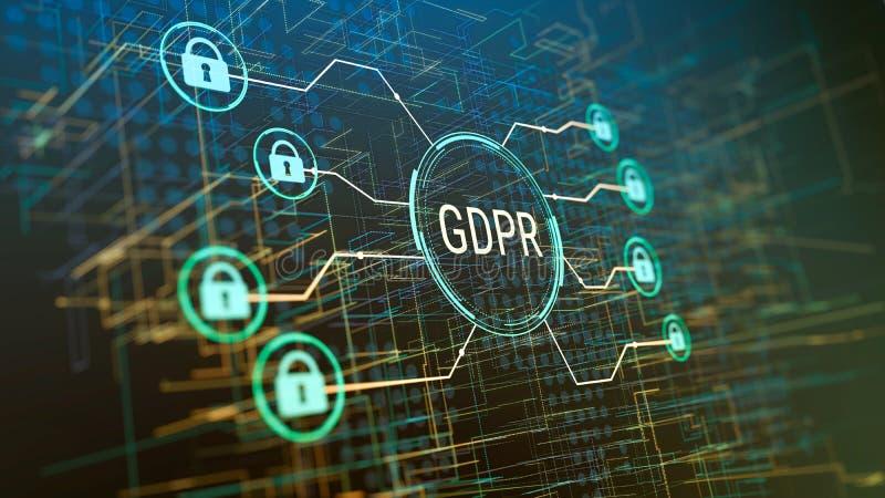Regolamento generale GDPR di protezione dei dati illustrazione vettoriale