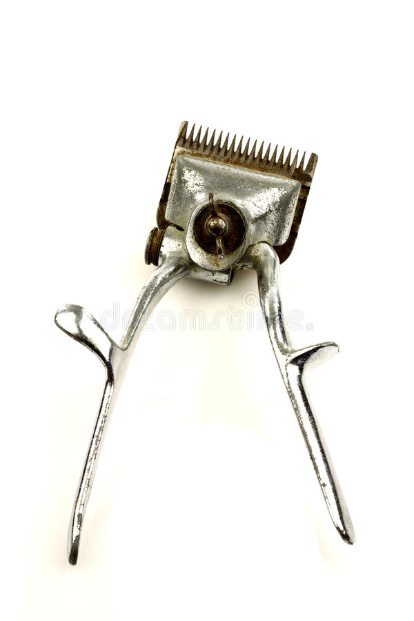Regolatore dei capelli del metallo dell'annata fotografia stock libera da diritti