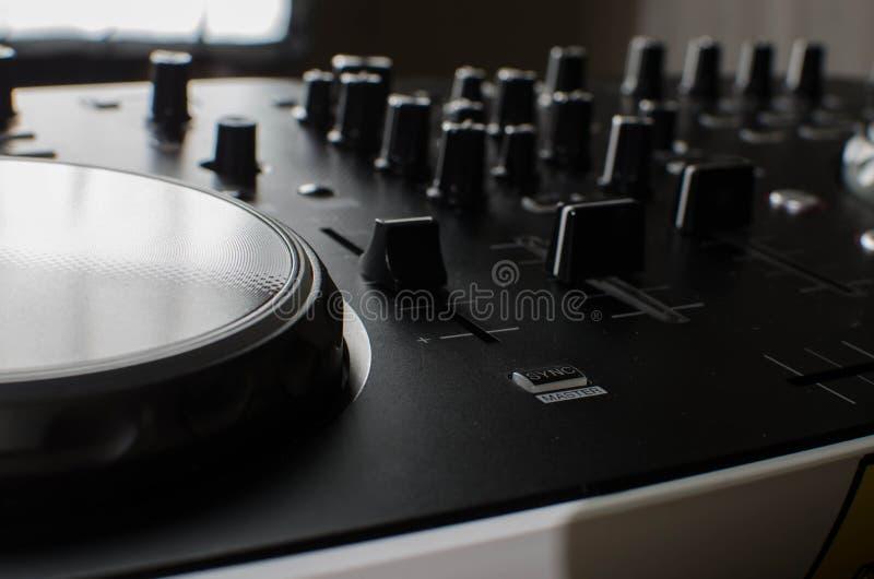 Regolatore del DJ fotografie stock libere da diritti