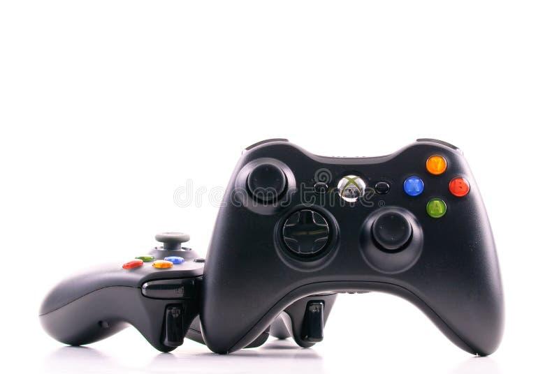 Regolatore del gioco del xbox di Microsoft immagini stock libere da diritti