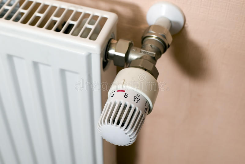 Regolatore di calore del radiatore fotografia stock libera da diritti