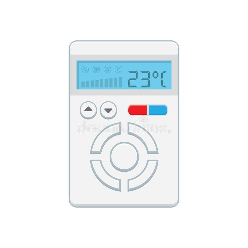 Regolatore di temperatura, termostato elettronico con uno schermo illustrazione vettoriale