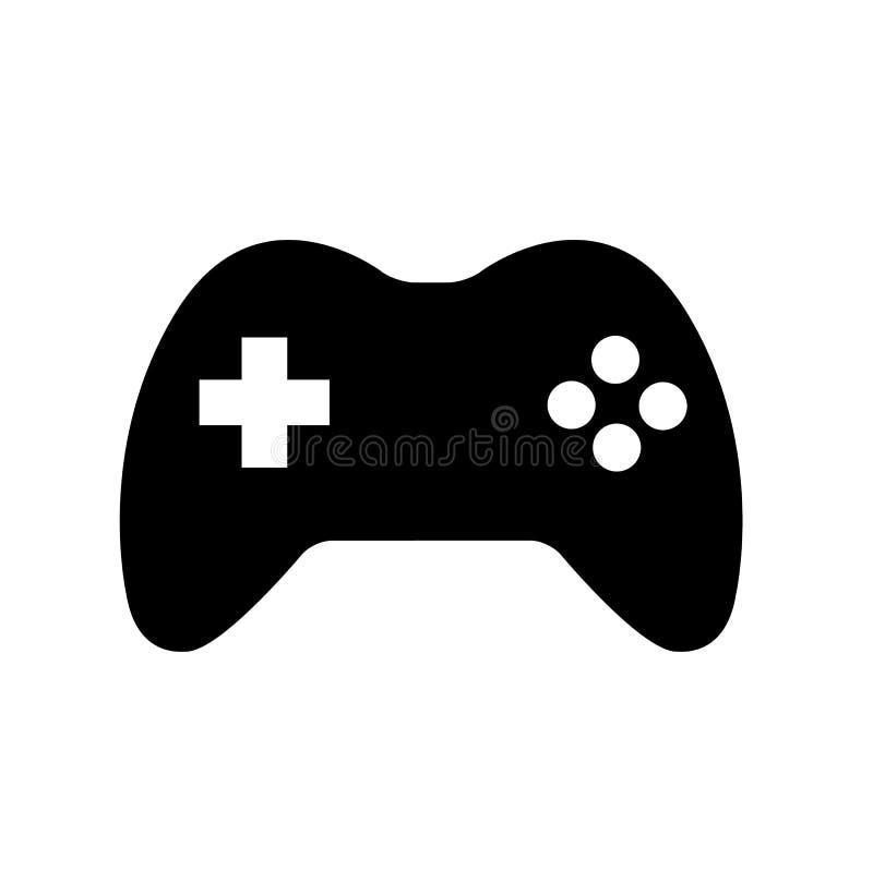 Regolatore Icon Logo del gioco di Joypad della leva di comando illustrazione di stock