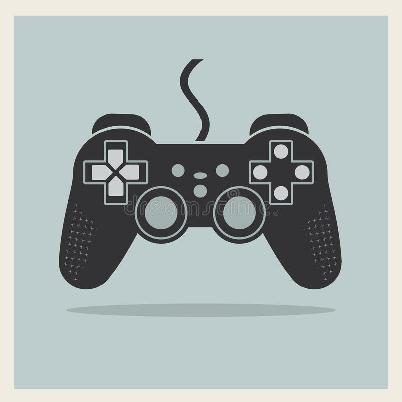 Regolatore Joystick Vector del video gioco del computer illustrazione vettoriale