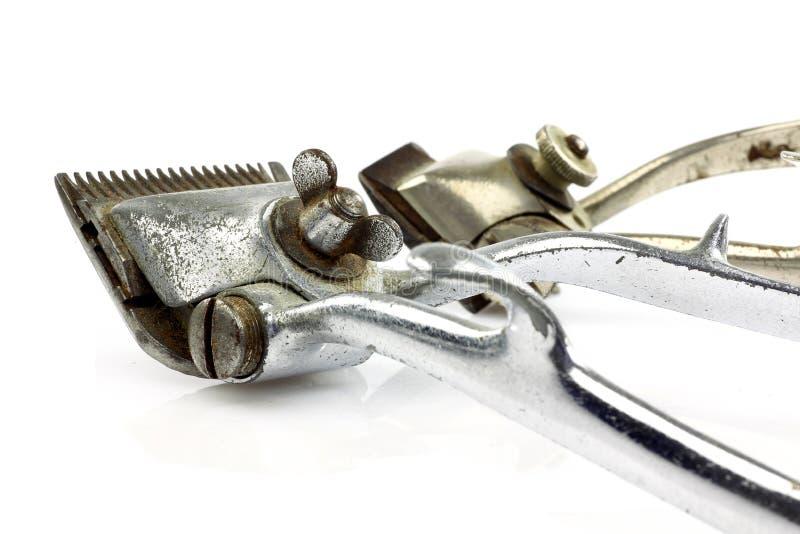 Regolatori dei capelli del metallo dell'annata fotografia stock