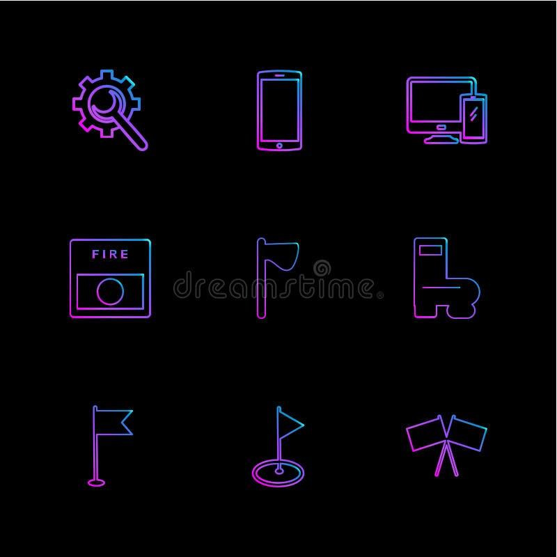 regolazione, cellulare, macchina fotografica, seo, tecnologia, Internet, bandiere royalty illustrazione gratis