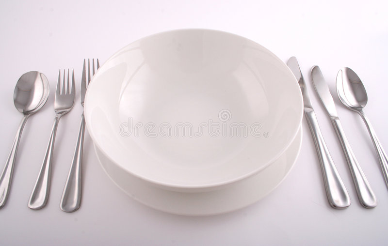 Regolazione completa del pasto fotografie stock