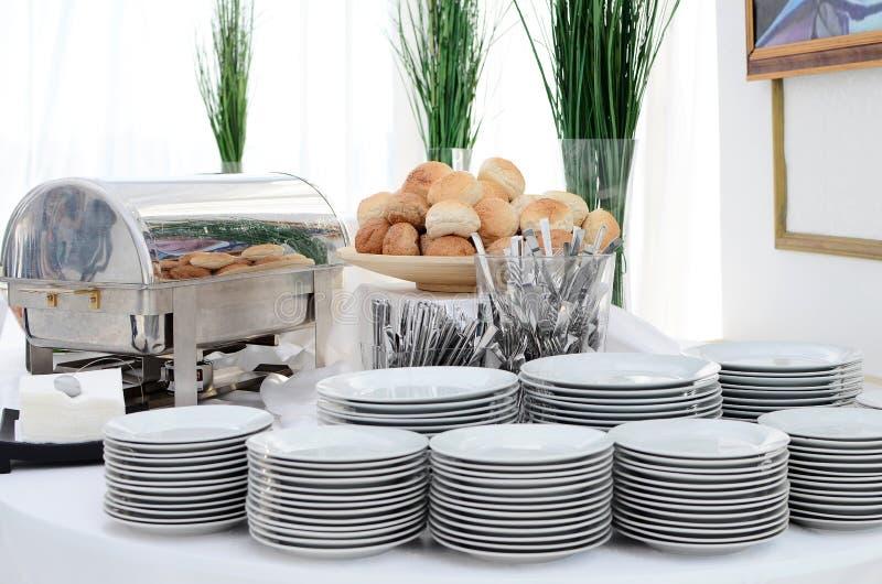 Regolazione del buffet immagini stock