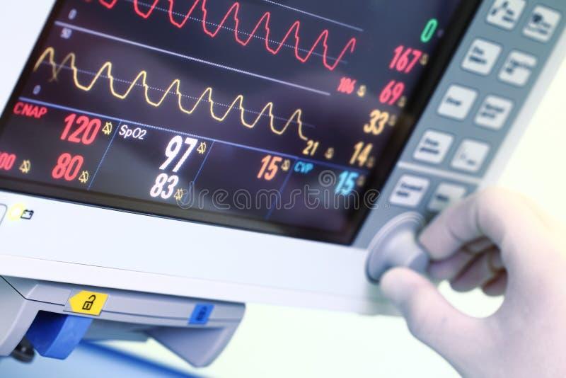 Regolazione del monitor medico fotografia stock