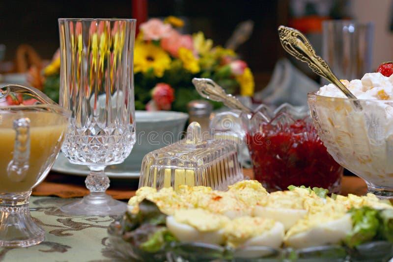 Regolazione della Tabella del pasto di festa fotografia stock