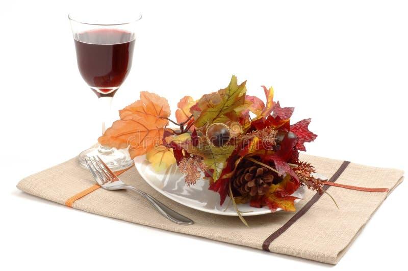 Autumn Table Setting fotografie stock libere da diritti