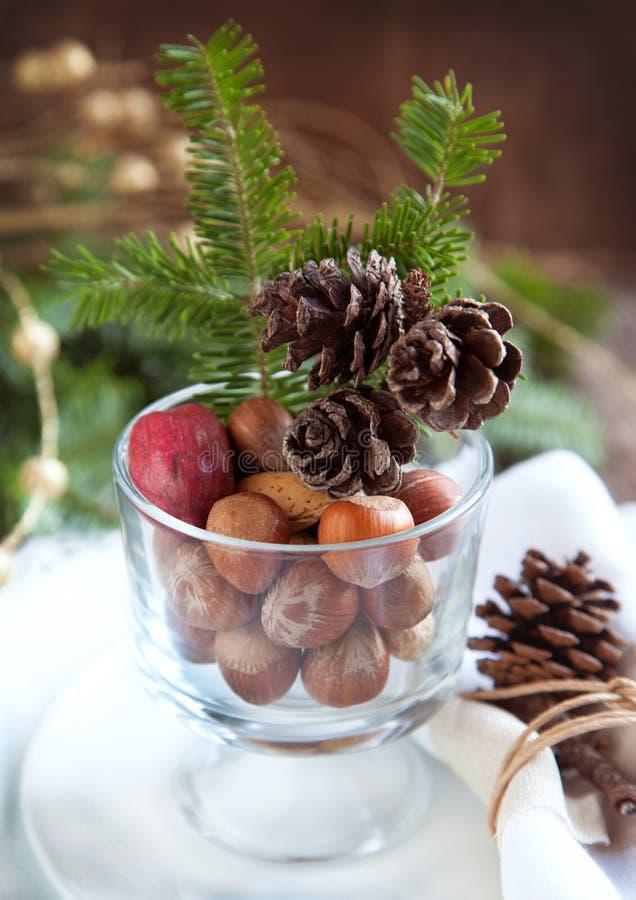 Regolazione della tavola di Natale fotografia stock libera da diritti