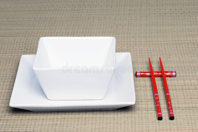 Regolazione di posto cinese fotografia stock libera da diritti