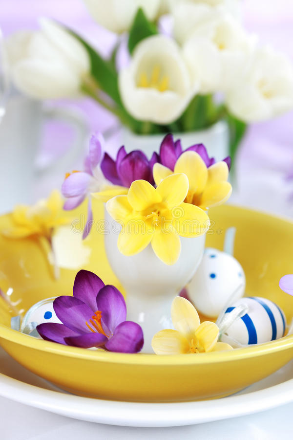 Regolazione di posto di Pasqua fotografia stock libera da diritti