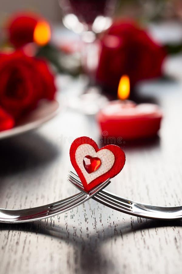 Regolazione di posto per il San Valentino immagini stock libere da diritti