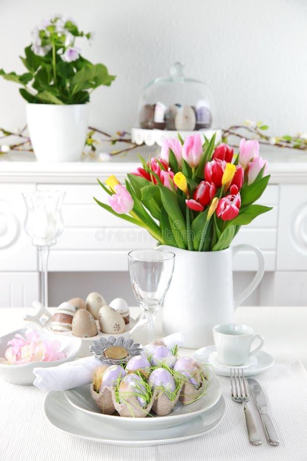 Regolazione di posto per Pasqua fotografia stock