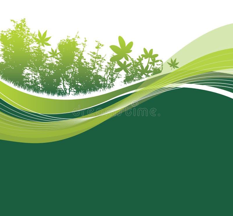 Regolazione naturale verde del terreno boscoso royalty illustrazione gratis