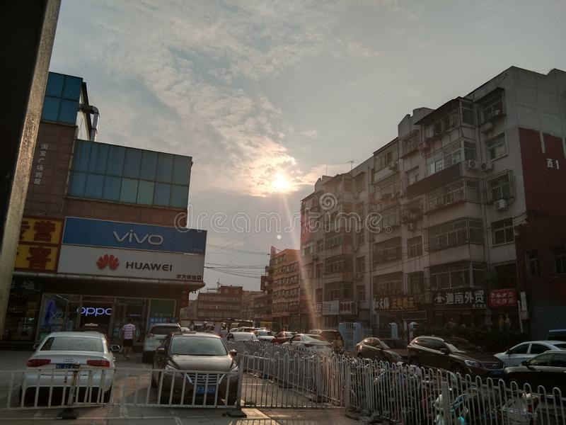 Regolazione Sun fotografie stock