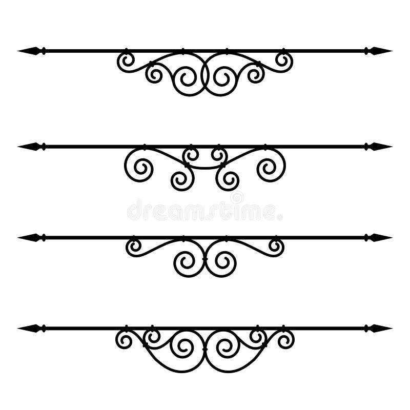 Regole decorative degli elementi, del bordo e della pagina royalty illustrazione gratis