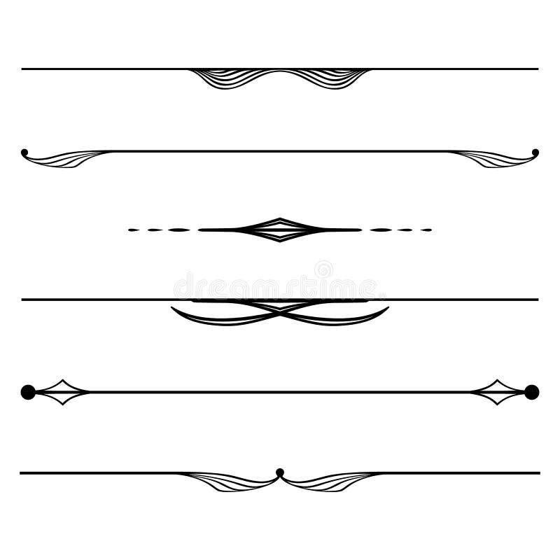 Regole decorative degli elementi, del bordo e della pagina illustrazione vettoriale