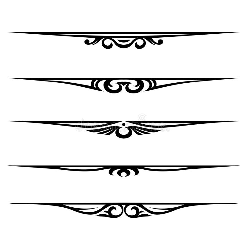 Regole decorative degli elementi, del bordo e della pagina illustrazione di stock