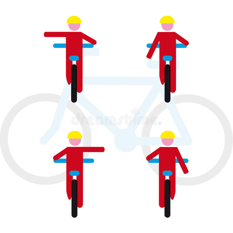 Regole della bici illustrazione vettoriale