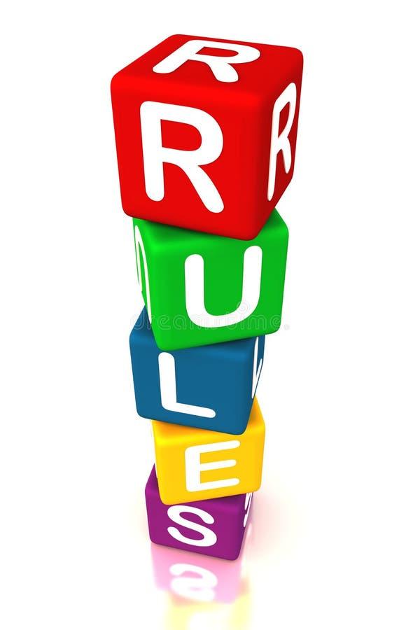 Regole e fatti illustrazione vettoriale