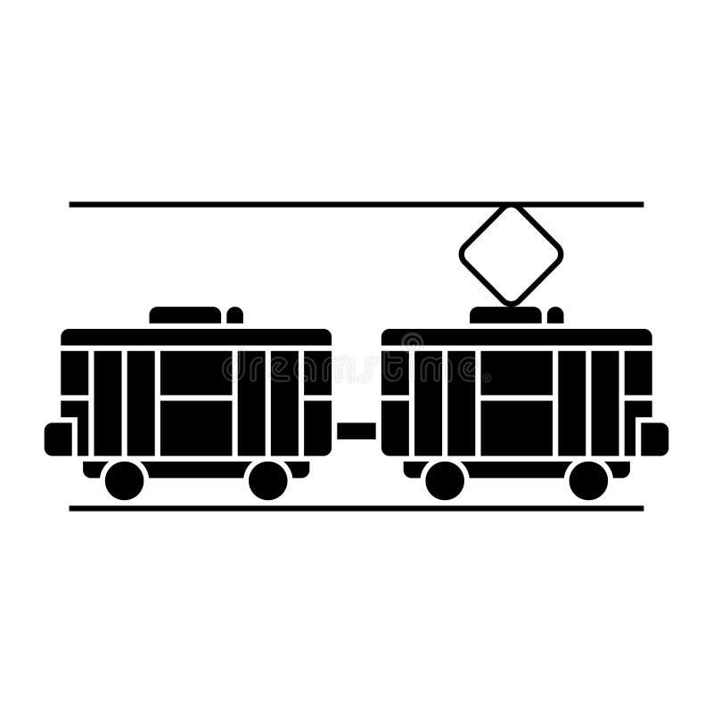 Regoli l'icona, l'illustrazione di vettore, segno nero su fondo isolato illustrazione vettoriale