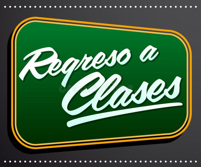 Regreso a clases, Back to school spanish text. Vector typographic banner illustration - eps available vector illustration