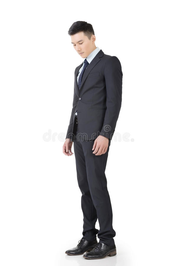 Regret young business man royalty free stock photography