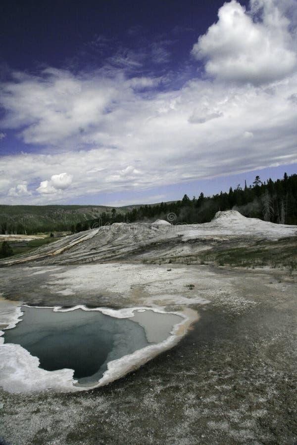 Regroupement bleu dans Yellowstone image libre de droits