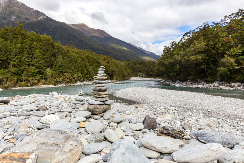 Regroupement bleu, Nouvelle Zélande photographie stock libre de droits