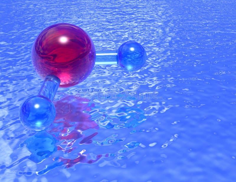 Regroupement de H2O - lavande illustration libre de droits