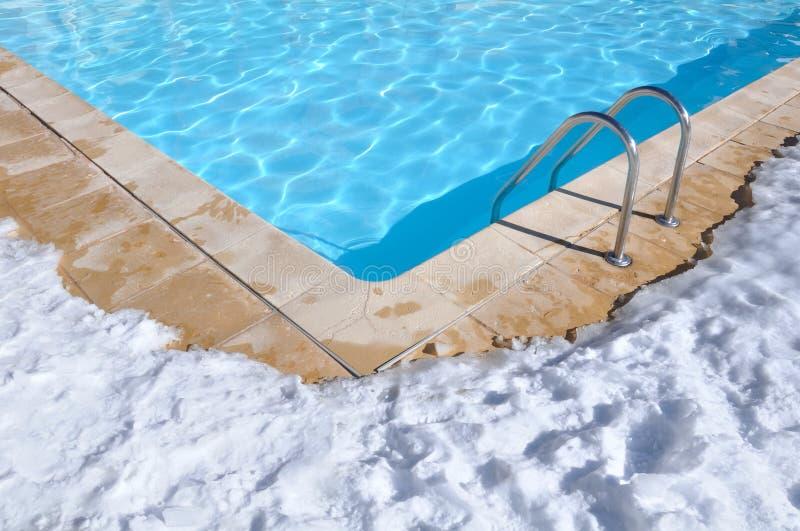 Regroupement extérieur en hiver photos stock