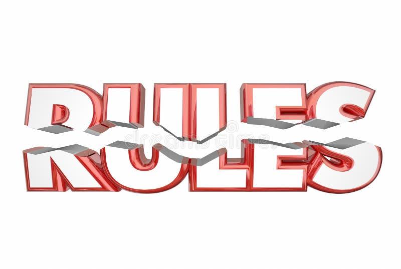 Reguły Łama prawa słowa Bezprawnego łupanie ilustracji