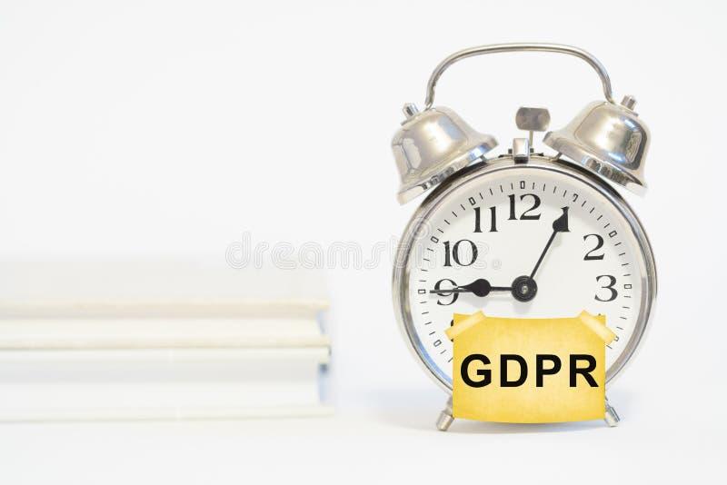 Regulación general de la protección de datos de GDPR imagen de archivo libre de regalías