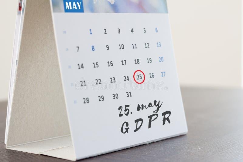 Regulación general de la protección de datos de GDPR fotos de archivo