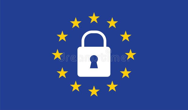 Regulación general GDPR de la protección de datos stock de ilustración