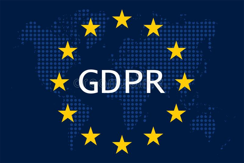 Regulación general GDPR de la protección de datos ilustración del vector