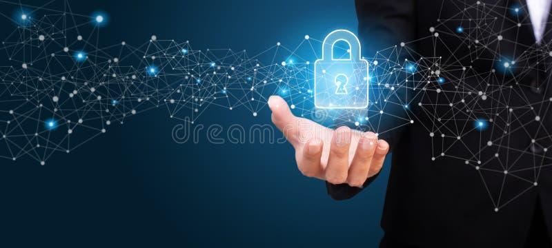 Regulación general GDPR, GDPR de la protección de datos en la mano de b fotografía de archivo