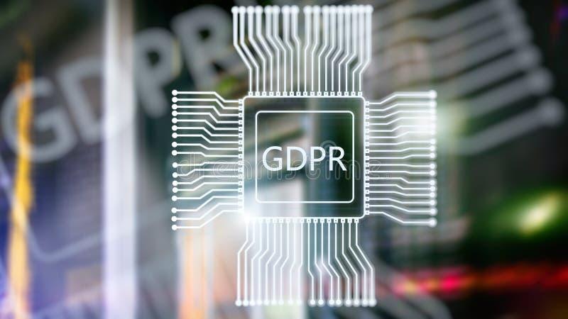 Regulaci?n general de la protecci?n de datos de GDPR Fondo abstracto del sitio del servidor de la exposici?n doble foto de archivo libre de regalías