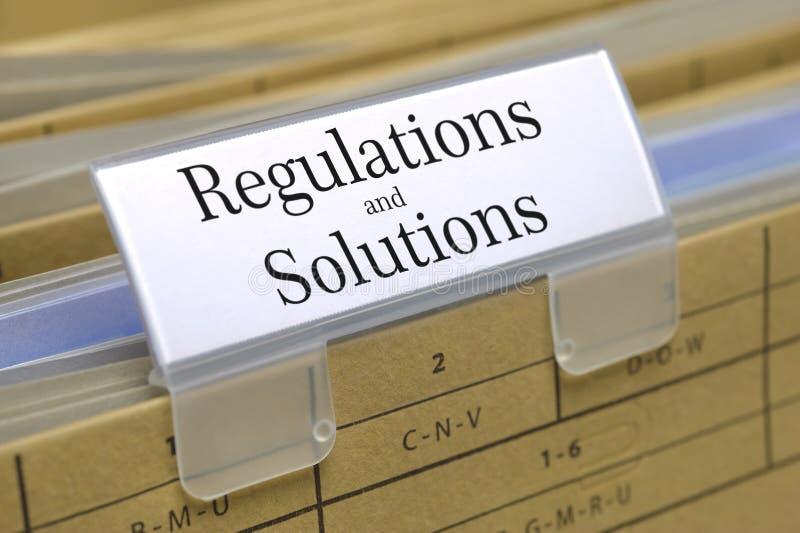 regulaciones y soluciones fotografía de archivo