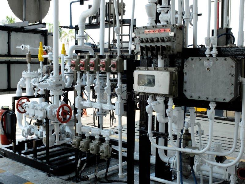 Regulador de cargamento del combustible en terminal del combustible fotos de archivo libres de regalías
