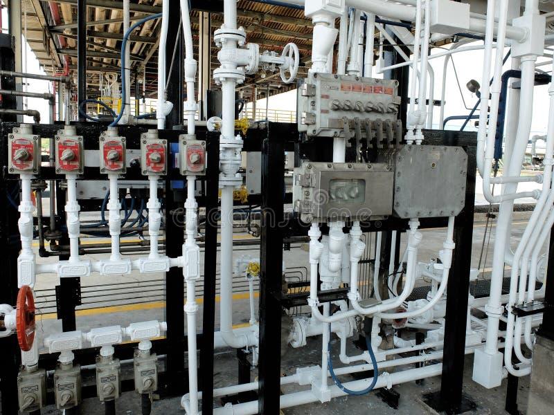 Regulador de cargamento del combustible en terminal del combustible imagen de archivo