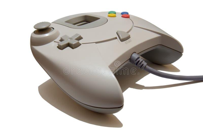 Regulador del juego de video aislado en el fondo blanco fotografía de archivo libre de regalías