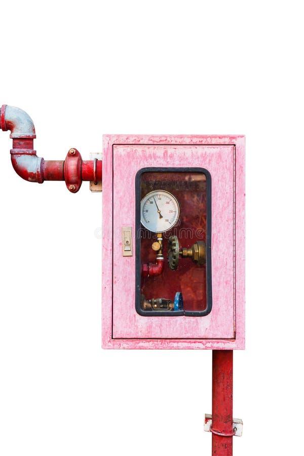 Regulador del sistema de la lucha contra la regadera y el fuego del agua foto de archivo libre de regalías