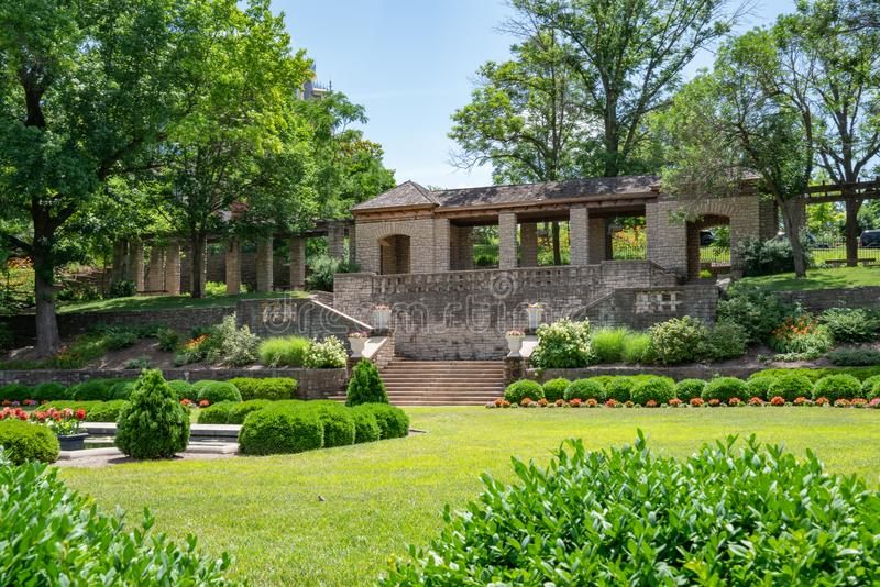 Regulador do jardim do memorial de Missouri Carnhan imagens de stock royalty free